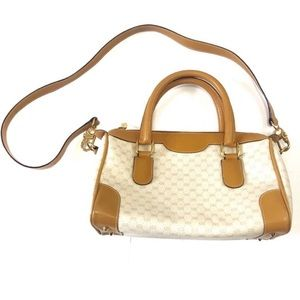 Vintage Gucci Beige Cream Doctor Crossbody Bag